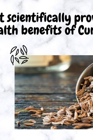 Best scientifically proven health benefits of Cumin